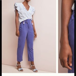 NWT Anthropologie Cupro wrap trousers
